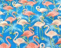 Pink Flamingo Fabric Cotton Material Flamingo Fabric Cotton Classics