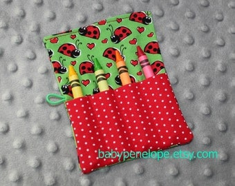 Crayon Roll - Set of Five - Ladybugs