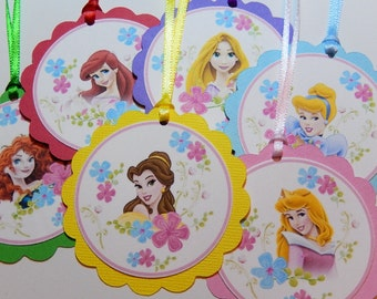 Twelve - Disney Princess Party Favor Tags, Party Decorations, Special Occasion, Birthday