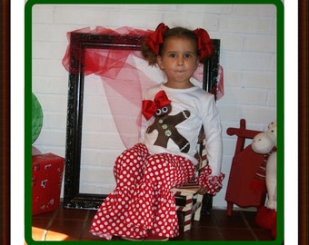 Gingerbread Outfit / Gingerbread Christmas Outfit for Infant, Toddler and Youth Girls