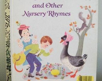 Vintage Little Golden Book Old Mother Goose and Other Nursery Rhymes