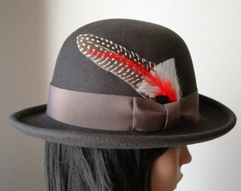 Lila ~ Ladies' Brown Derby by Babette's Hatworks