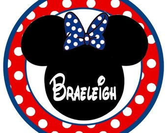 Patriotic Minnie Mouse 4th of July iron on
