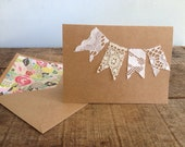 Vintage Lace Pennant Card
