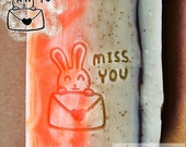 Miss you / Acrylic Soap Stamp ( Soap Republic )