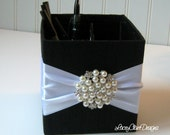 Wedding Pencil Box, Pen Holder, Centerpiece Box, Floral Box - Custom Made