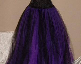 Purple And Black Skirt