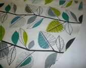 "Round /Square Tablecloth Teal Green Blue Funky Retro designs fits a round 41"" table"