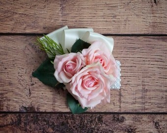 Pink Rose Wedding Corsage