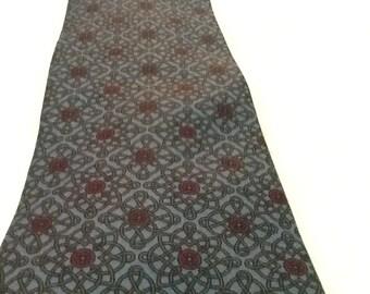 Vintage YSL Tie YVES SAINT Laurent Tie Silk Paris New York Blue Purple Graphic Design