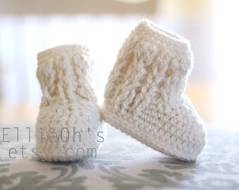 Crochet Cable Booties