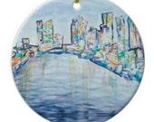 Philadelphia ornament - Christmas gift, philly, pennsylvania, stocking stuffer, skyline, abstract, contemporary