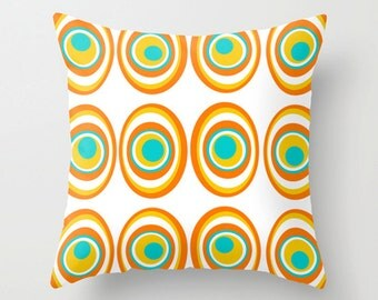 Modern Pillow Cover, Geometric Pillow Cover, MidCentury Modern Throw Pillow Cover, Retro Pillow Cover, Cool Pillow Cover
