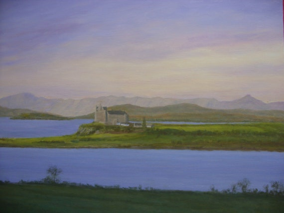Clan Maclean...... Mull..Duart castle .... original oil painting