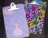 Mini Clipboards, Ballerina or Flower Power