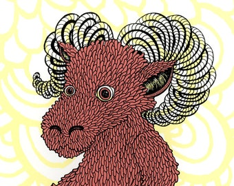 Ram Screenprint 8x10