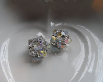 Crystal Earrings, Aurora Borealis