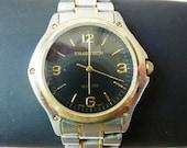1980's Mens Watch Timetech Round Two Tone case  and Bracelet Quartz