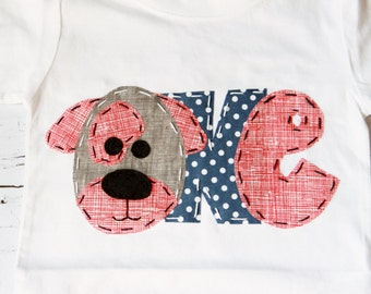 Puppy birthday shirt // one // 1st // four, dog t shirt, girl pink,