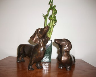 Bronze Dachshunds - Brass Dachshunds