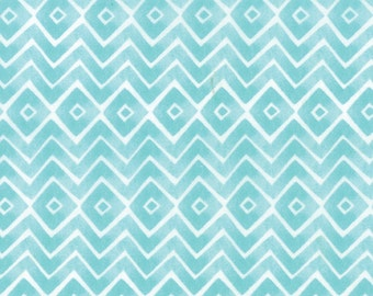 Fleurologie - Zig Zag Chevron in Whisper by Stephanie Ryan for Moda Fabrics