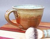 Lather Mug Bowl Large Wet Shaving Green Iron Red EACH ONE UNIQUE