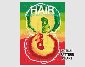 Hair Poster, Vintage Hair Poster, Mid-Century Poster, Broadway Plays, Posters, Cross Stitch, Vintage Cross Stitch NewYorkNeedleworks on Etsy