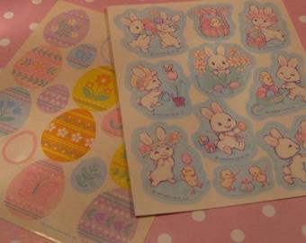 2 Vintage Hallmark Easter Sticker Sheets