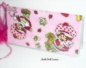 Checkbook Cover/ Holder / Case-Strawberry Shortcake