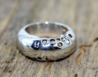 Ring Outside. Sterling silver.