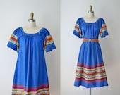 1970s Guatemalan Dress / 70s Embroidered Sundress