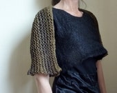 The Caledonia Shrug, featured in Outlander, hand knitted in nature greens