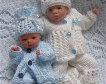 "Dolls Knitting Pattern - Download PDF Pattern Reborn Dolls - Dolls Clothes for 8-11"" Reborn Dolls"