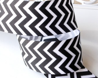 NEW Black Chevron Ribbon 1-1/2 inch - Choose from 1-10 yards Grosgrain Ribbon - Hairbow Supplies, Etc.