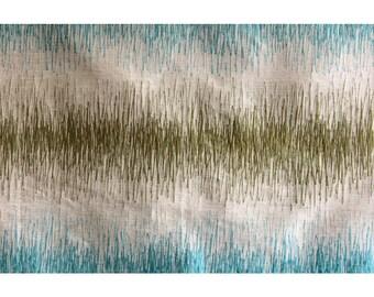 Green Waves Curtain Fabric Upholstery Fabric Curtain Panels Drapery Fabric Window Treatment Geometric Fabric Modern Fabric
