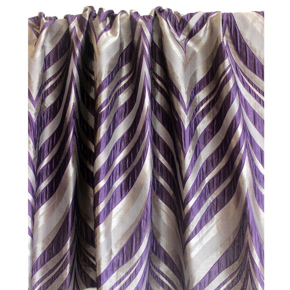 "Purple Stripes Curtain 52""x84"" Rod Pocket Curtain Panels Drapes Home ..."