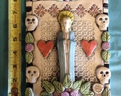 Virgin Mary Hearts Ceramic High Relief Art Tile