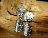 Eye of the Beholder Earrings - Fine Silver Dangles - Art Jewelry Earrings