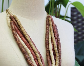 Coconut Shell Beads Necklace - CL1409-06