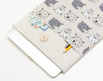 """50% OFF SALE NEW 2016 MacBook 13"""" Pro Case. Sheep Pattern Laptop Case. Case for MacBook 13 Pro Retina. Sleeve for MacBook 13 Air"""