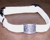 """3/4"""" Glow-in-the-Dark Braided CUSTOM ID Tag Dog Collar"""