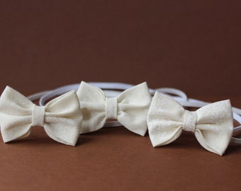 The Eva- Children's/Baby headband-  Photography Prop - Paisley - floral print - clip - Ivory - bow - shower - wedding