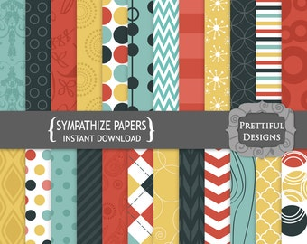 Digital Paper Pack - Personal and Commercial Use - Sympathize