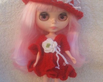 Dress and hat for Blythe doll.