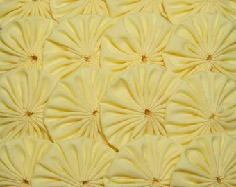 30 Yellow 2 inch Yo Yos Applique Quilt Pieces Scrapbooking Embellishment