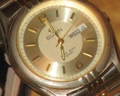 Gentleman's Elgin Watch, Water Resistant 100 Ft, Stainless, Stretch Band