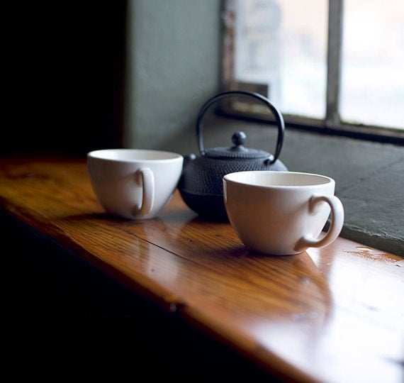 Morning, Coffee and Tea, Still Life, Urban Art, Photography, Bistro, Cafe, Fine Art Photography, Travel Photography, Still-life, Print