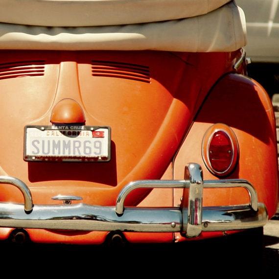 VW Bug, Fine Art Photography, 1969, Photography, Summer, Love, Vintage VW, California, Orange, fine art print