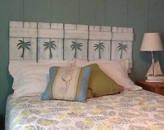 Shutters Queen Headboard or Windows Cedar Wood Exterior Interior Beach House Wall Decor by CastawaysHall
