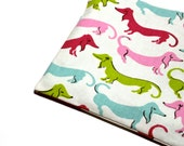 Snack Bag EcoFriendly Dachshunds with BPA Free Pink Lining